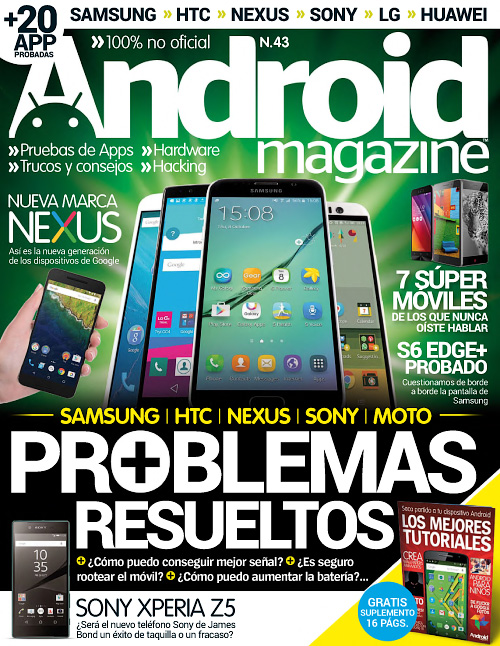 Android Magazine Spain - Numero 43, 2015