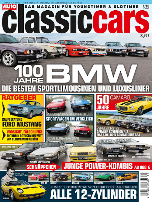 Auto Zeitung Classic Cars - Nr.1, 2016