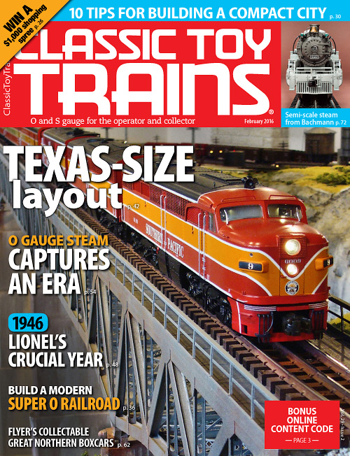 Classic Toy Trains - February 2016