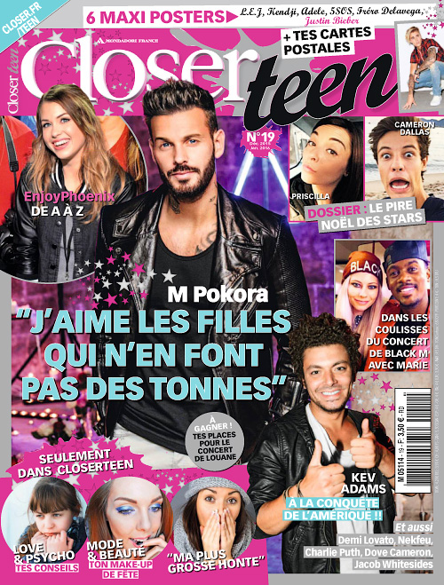 Closer Teen - Janvier 2016