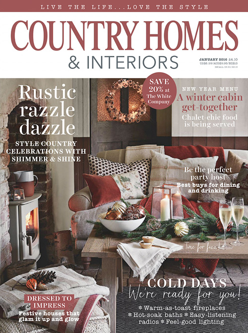 Country Homes & Interiors - January 2016