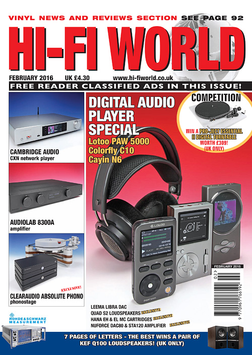 Hi-Fi World - February 2016