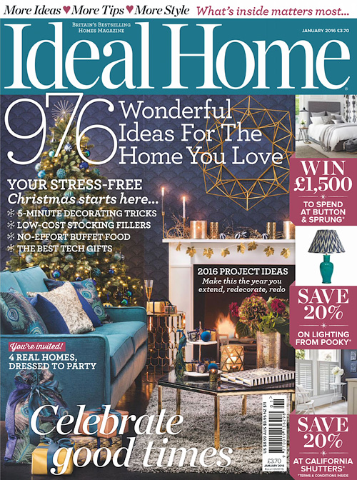 Ideal Home UK - January 2016