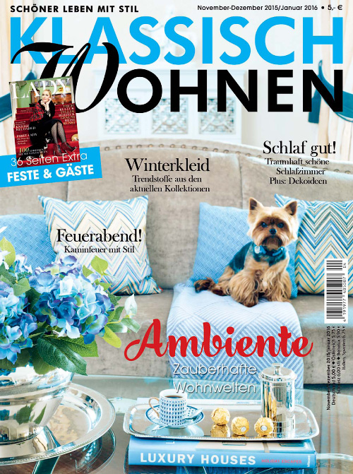 klassisch wohnen februar april 2017 free pdf magazines for windows mac ipad iphone. Black Bedroom Furniture Sets. Home Design Ideas