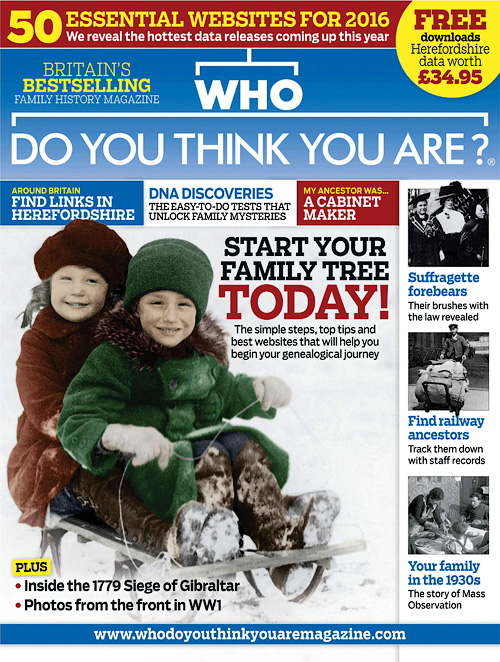 Who Do You Think You Are? - January 2016