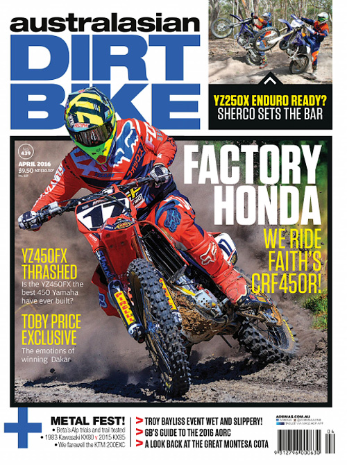 Australasian Dirt Bike - April 2016
