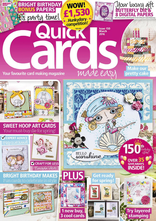 Quick Cards Made Easy - March 2016