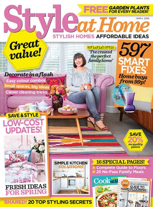 Style at Home UK - April 2016
