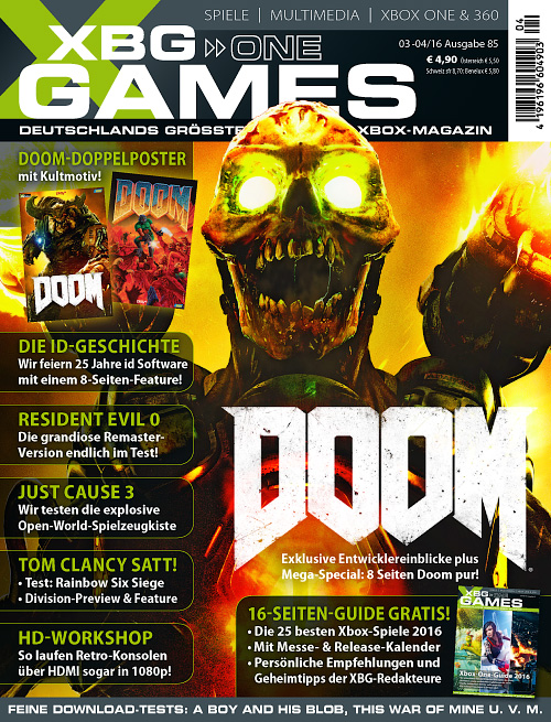 XBG Games - März/April 2016