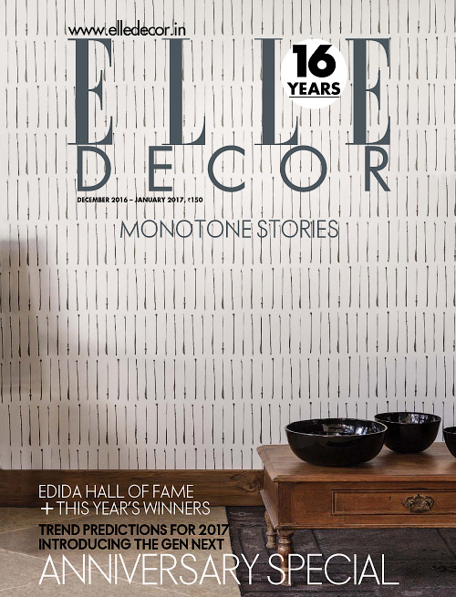 Elle Decor India - December 2016/January 2017