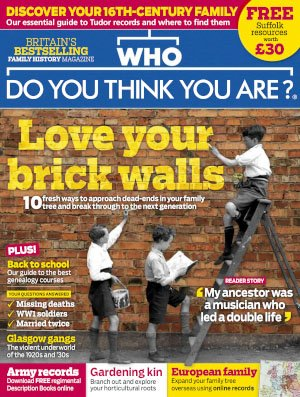 Who Do You Think You Are? - May 2018