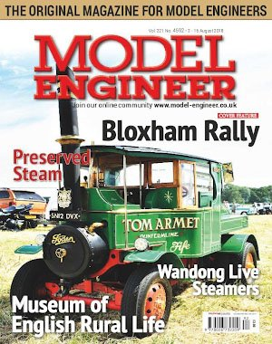 Model Engineer – 03 August 2018