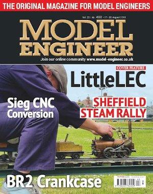 Model Engineer – 17 August 2018
