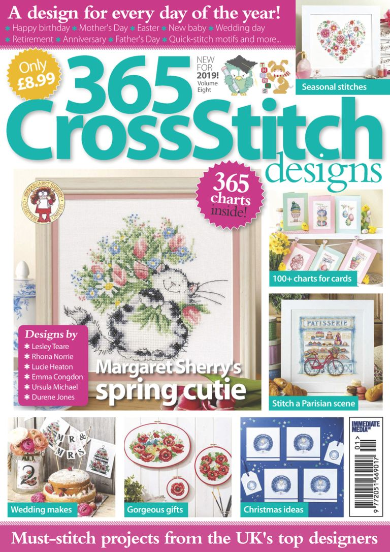 365 Cross Stitch Designs – January 2019