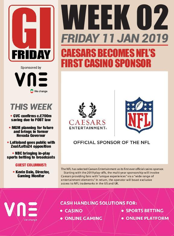 The Gambling Insider Friday – 11 January 2019