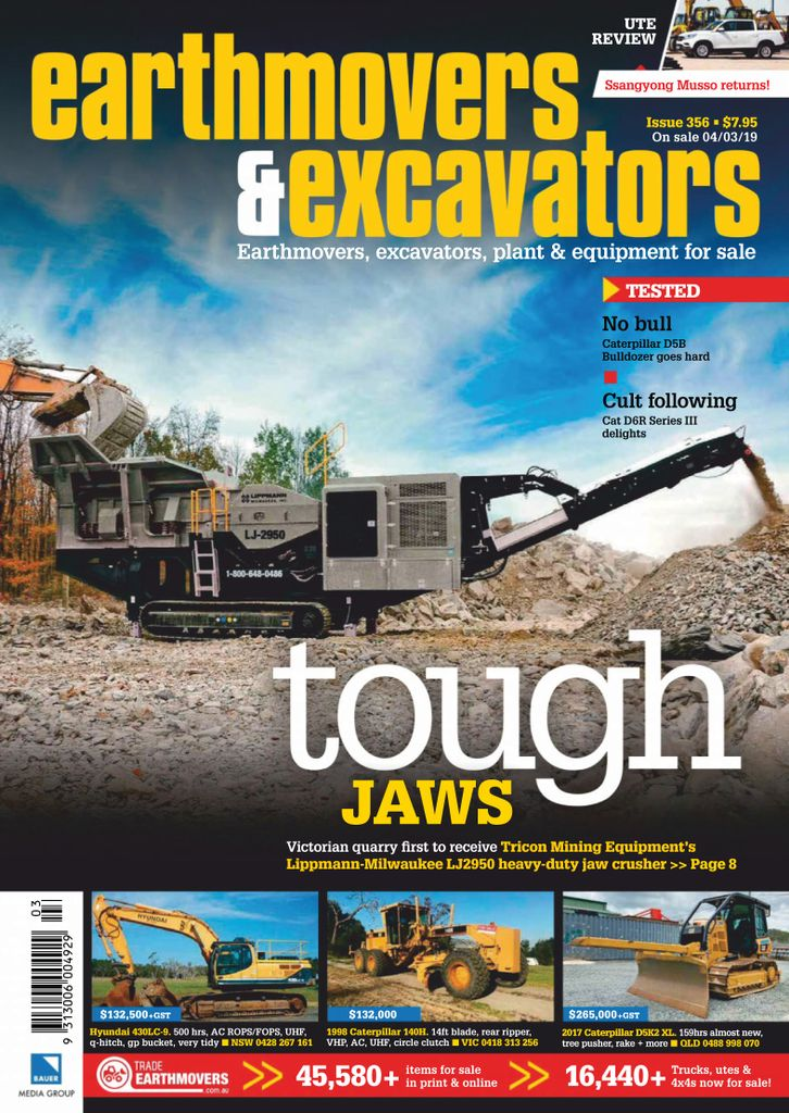 Earthmovers & Excavators - April 2019