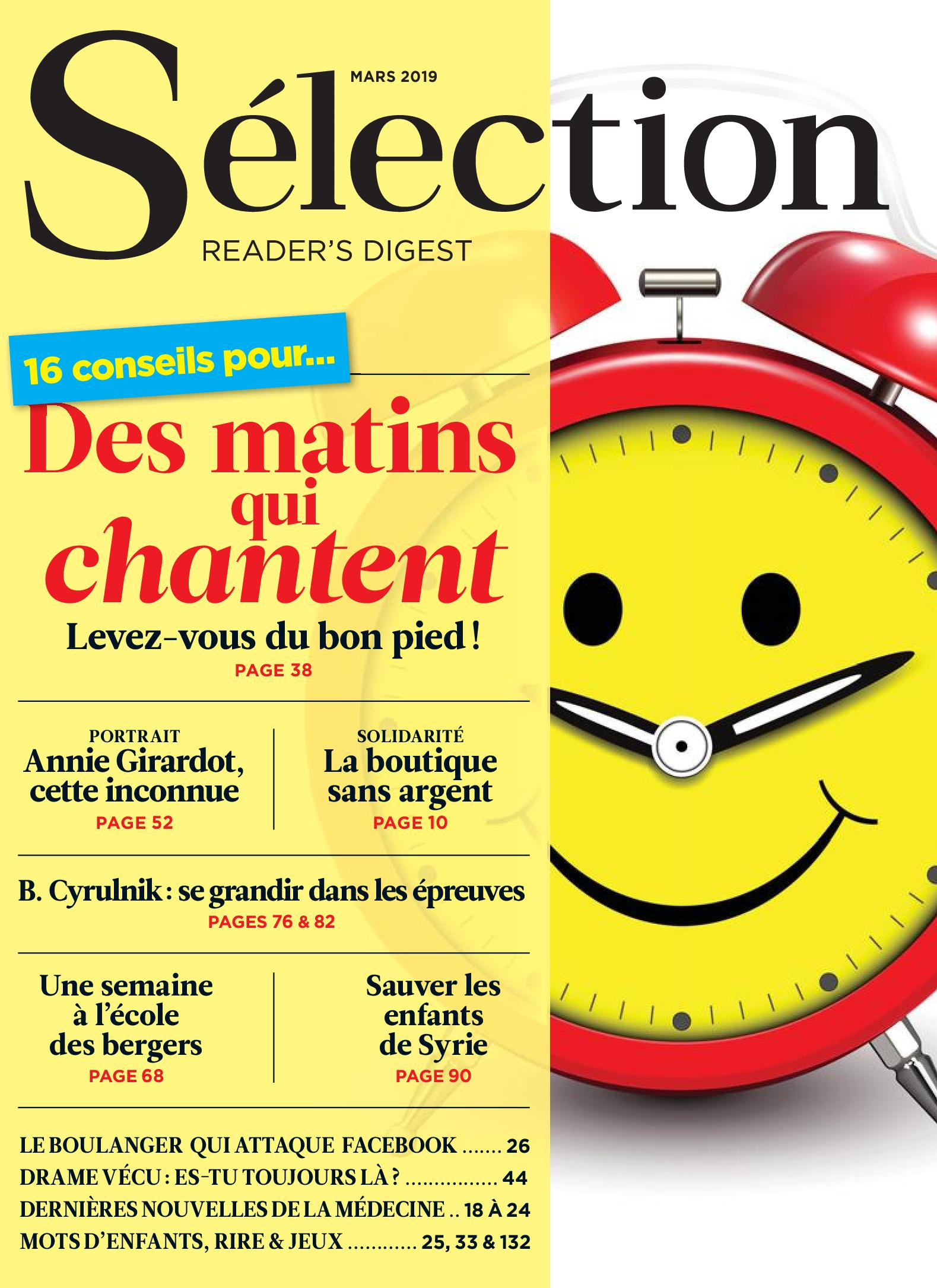 Sélection Reader's Digest France – mars 2019