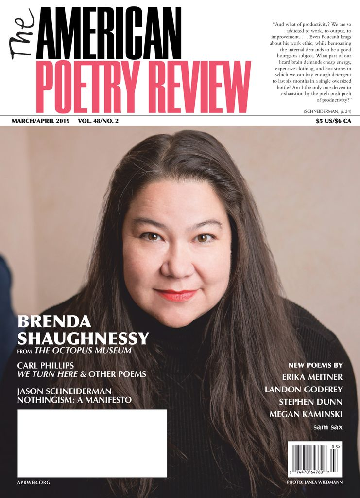 The American Poetry Review - March/April 2019